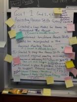 Goal 1 Process Skills output at PNM